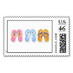 3 Pairs of Flip-Flops Custom Postage