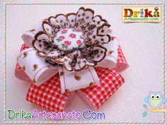 Flores de tecido e feltro - Drika Artesanato