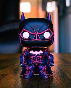 Custom Funko Pop Neon Batman by Funko Pop Marvel, Marvel E Dc, Funko Pop Batman, Pop Custom, Custom Funko Pop, Funko Pop Vinyl, Funko Pop Figures, Pop Vinyl Figures, Custom Pop Figures