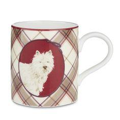 Westie Highland Check China Mug at Laura Ashley