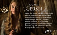 I took Zimbio's 'Game of Thrones' quiz and I'm Cersei! Who are you?