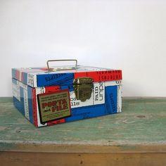 Vintage Mid Century Metal Porta File Box