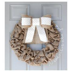 Love my wreaths but not a monogram person? This wreath is perfect for you!!!! Select your bow color and your tail length and you are good to