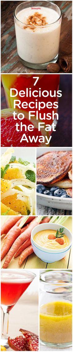 7 Delicious Recipes to Flush the Fat Away! #recipes #fatloss