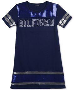 7f6a325b Tommy Hilfiger Big Girls Sequin-Trim Ponté-Knit Dress & Reviews - Dresses -  Kids - Macy's