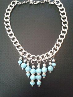 Collana catena e perle