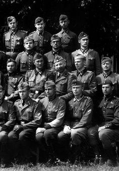 Latvian SS Volunteers in a group porait.