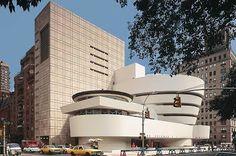 Guggenheim museum designed by Frank Lloyd Wright