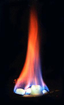 Methane hydrate burning