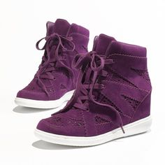 Princess Vera Wang Wedge Sneakers - Women and other apparel, accessories and trends. Browse and shop related looks.