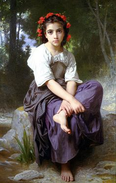 William-Adolphe_Bouguereau_(1825-1905)_-_At_the_Edge_of_the_Brook_(1875)