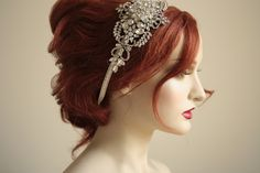 Wedding headband, side tiara  - NOAH Style 002. $285.00, via Etsy.