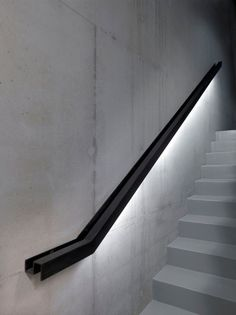 13 industrial metal handrail with LED lights underneath - DigsDigs