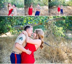 Military Inspired Vintage Engagement Photography Session Knight Ferry CA