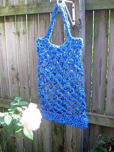blue plarn tote