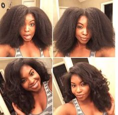 Chic & Stylish Straight Natural Hair. IG:@livin_fearless  #naturalhairmag
