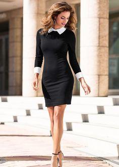 Платье черный - BODYFLIRT boutique заказать онлайн - bonprix.ru