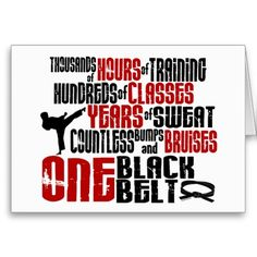 ONE Black Belt 2 KARATE T-SHIRTS & APPAREL Cards