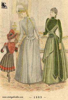 1889 Women's Fashion, Painting, Art, Art Background, Fashion Women, Womens Fashion, Painting Art, Kunst