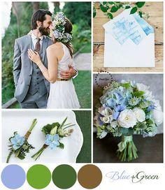 Голубая свадьба_Blue and Green Wedding Pallette | more on www.bridetips.ru