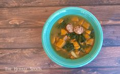 Hearty Sausage Kale Soup - The Herbal Spoon