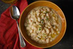 Simple White Beans with Rosemary and Garlic via Relishing It