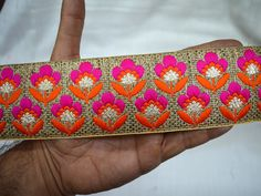 Lace Trims – Decorative Trim Indian Sari Border Fashion trim – a unique product by indianlacesandfabric on DaWanda