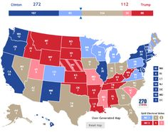 We have now run two stories on the electoral possibilities for Gary Johnson and the Libertarian Party. We are now prepared to update our electoral map and push the Libertarian former Governor up t… Electoral College Votes, Libertarian Party, Trump Clinton, Calm Down, Math Lessons, Map, Activities, Marketing, Technical Analysis