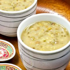 This Sweet Mung Bean and Sago Soup is a Chinese dessert with a Southeast Asian touch. Pandan leaves, sago, and coconut milk make it even more flavorful.