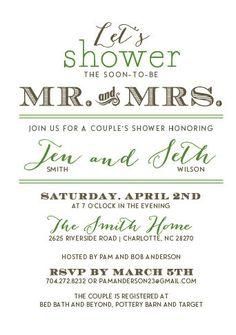 Couple's Wedding Shower Invitation by AMGDesignCo on Etsy, $3.35