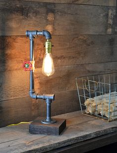 SALE Industrial Lamp by RchristopherDesigns on Etsy