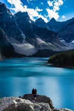 """flyestfemales: """"plasmatics-life: """" Moraine Lake Lovers - by Stu Butler Official WebSite """" Flyestfemales / insta: """" Banff National Park, National Parks, Places To Travel, Places To See, Nature Landscape, Seen, Adventure Is Out There, Beautiful Landscapes, Wonders Of The World"""