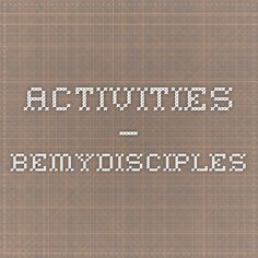 Activities — BeMyDisciples