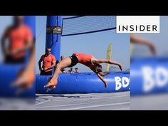 Bossaball combines volleyball, soccer, and gymnastics - YouTube