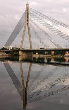 Bridge reflection, Riga, Latvia by Alaskan Dude, via Flickr