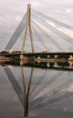Bridge reflection, Riga, Latvia by Alaskan Dude, via Flickr