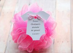 10 Tags ~ Baby Shower ~ Sprinkle ~ Party Favor ~ Girl or Boy Gift Tags ~ From my shower ~ From our shower to yours ~ loofah ~ pouf ~ 2 Fiesta Baby Shower, Baby Shower Favors Girl, Baby Shower Niño, Baby Shower Gender Reveal, Baby Shower Parties, Baby Shower Themes, Baby Boy Shower, Baby Shower Decorations, Baby Shower Gifts
