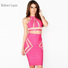 ef8c9c4970c 2 Piece Special Occasion Evening Bodycon Party Bandage Dresses Price  58.00   amp  FREE Shipping