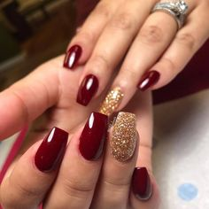 New burgundy nails dip powder 62 ideas Xmas Nails, Holiday Nails, Prom Nails, Red Christmas Nails, Christmas Acrylic Nails, Christmas Cookies, Burgendy Nails, Maroon Nails Burgundy, Oxblood Nails