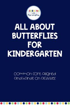 Looking for a preschool or kindergarten appropriate lesson plans and activities on butterflies? This product includes hands on activities, fun facts, and reading opportunities to investigate different types of butterflies and the life cycle of a butterfly! Weather Lesson Plans, Weather Lessons, Kindergarten Art Lessons, Science Lessons, Kindergarten Age, November Preschool Themes, Vocabulary Cards, Hands On Activities, Art Lesson Plans