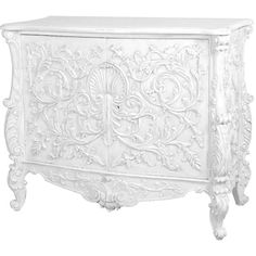 Out There Interiors Baroque Cupboard In White ($3,205) ❤ liked on Polyvore featuring home, furniture, storage & shelves, cabinets, white cabinet, baroque furniture, white storage cabinet and white furniture