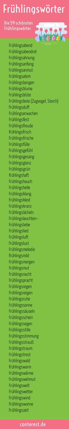 Bringe dich und deine Leser in Frühlingsstimmung. Zaubere ihnen ein Frühlingslächeln auf die Lippen. Blogging, German, Creative Writing, Writing Workshop, German Language, Pretty Words, Deutsch