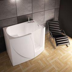 Une baignoire avec porte latérale