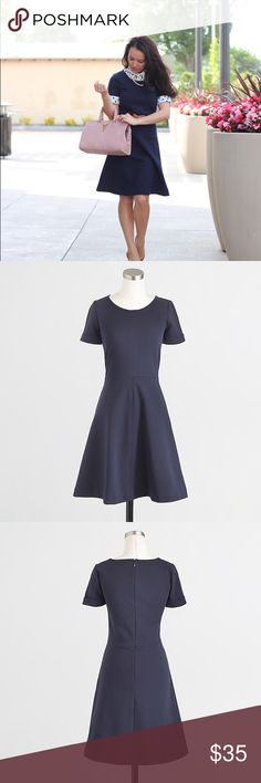 5a5ec9b4e9d70 JCrew ponte flare dress JCrew factory ponte flare dress in ribbed knit   so  many amazing thing about this dress