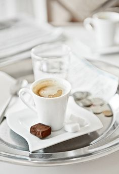 Coffee and chocolate.