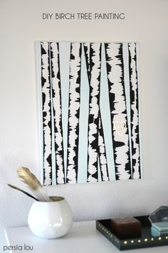 Making your own beautiful DIY Birch Tree Art is easy with this step by step tutorial. No special artistic skills or painting experience required!