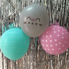 Cheap latex balloons, Buy Quality polka dot directly from China baby baby Suppliers: 12 inch Pink Blue Silver Cartoon Polka Dot Fat Cat Latex Balloons Birthday Party Wedding Decoration Pusheen Balls Baby 13th Birthday Parties, Fall Birthday, Birthday Party Decorations, 7th Birthday, Pusheen Birthday, Sixteenth Birthday, Bday Girl, Cat Party