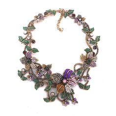 Necklaces : Bijoux Crystal Vintage Statement Choker #jewelry #fashion #style #charm # bracelet #silver #prom #teenfashion #summer