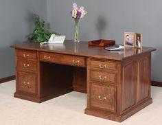Walnut Creek Solid Wood Executive Desk
