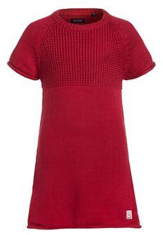 Gebreide jurk - dunkelrot